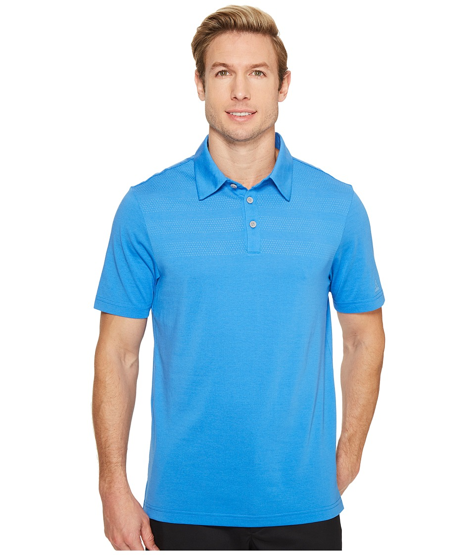 Image of adidas Golf - 3-Stripes Mapped Polo (Blast Blue) Men's Short Sleeve Pullover