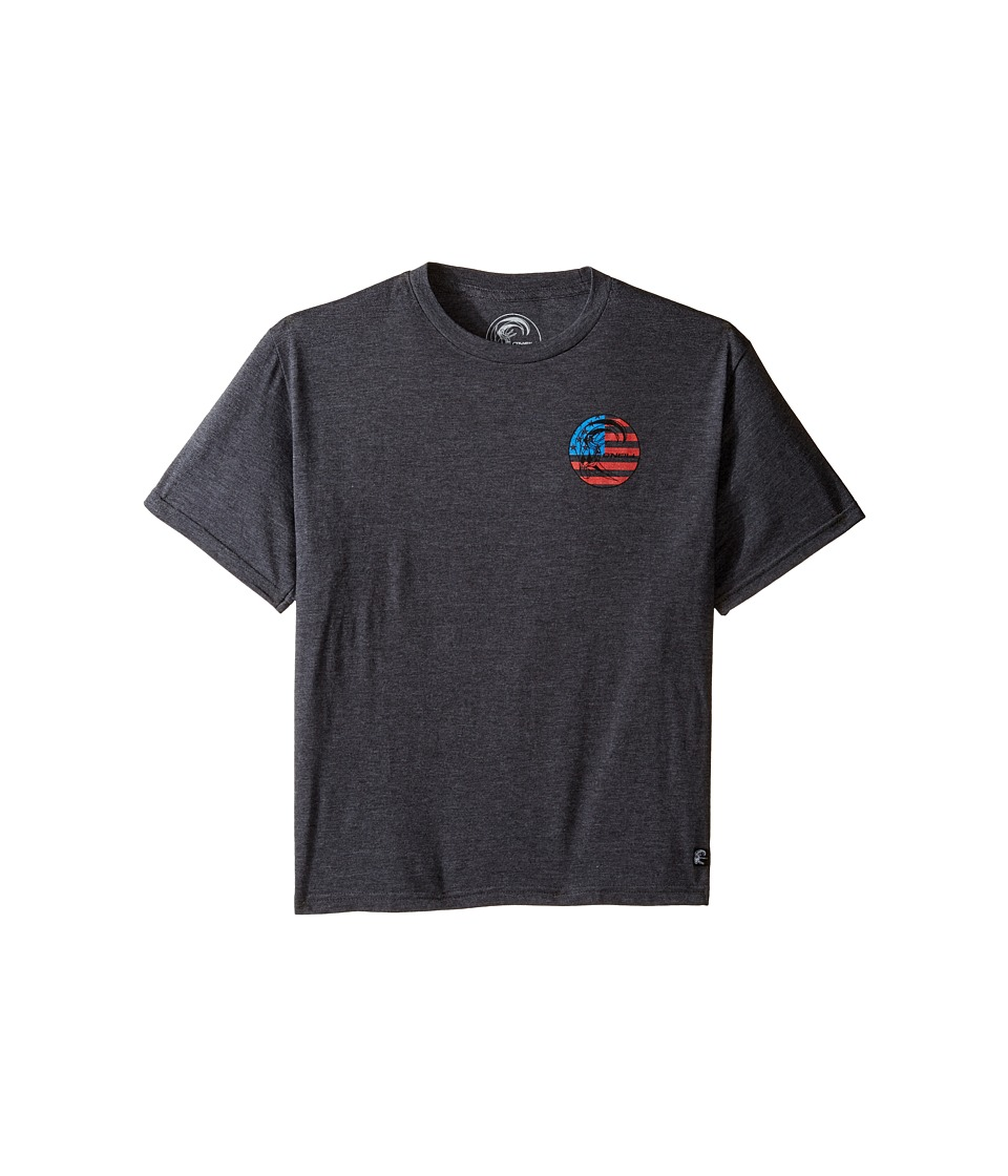 O'Neill Kids - Old Glory Original Tee (Big Kids) (Heather Black) Boy's T Shirt
