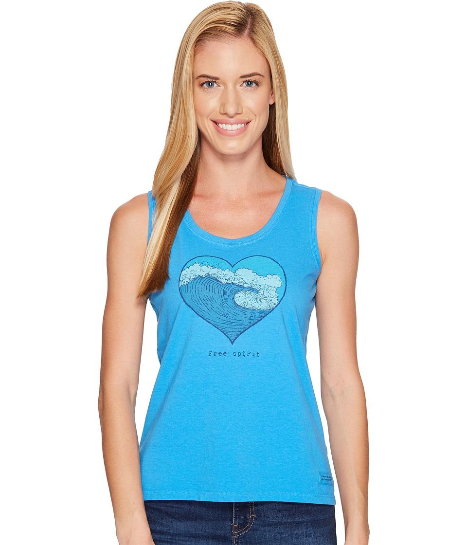 Life is Good - Free Spirit Sleeveless Crusher Scoop (Tile Blue) Women's Sleeveless