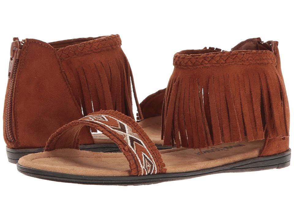 Minnetonka Kids Coco Sandal (Toddler/Little Kid/Big Kid) (Brown) Girls Shoes
