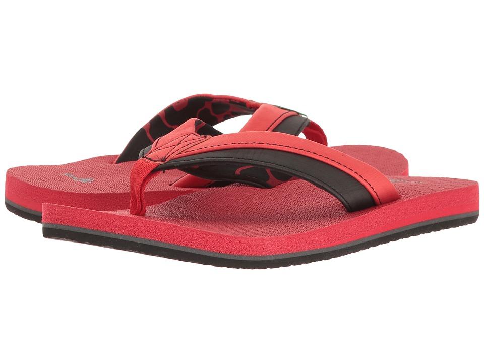 Sanuk Kids Rootbeer Cozy Light (Little Kid/Big Kid) (Red/Black) Boys Shoes