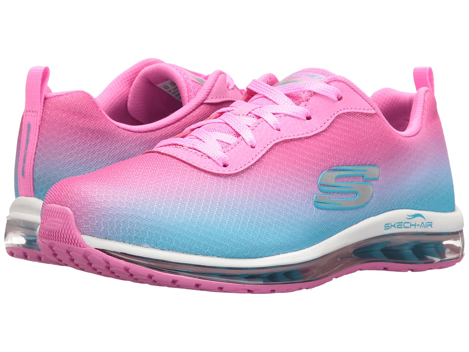 SKECHERS - Ombre Mesh Lace-Up w/ Air Cool (Pink) Women's Shoes