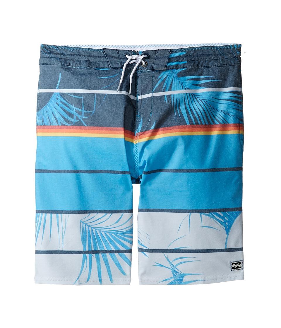Billabong Kids Spinner LT Print Boardshorts (Big Kids) (Blue) Boy