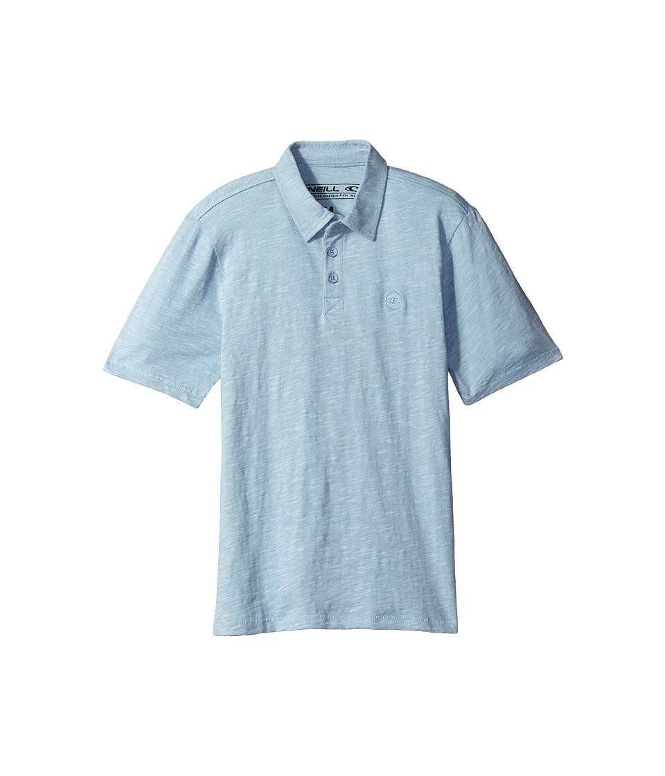 O'Neill Kids - The Bay Polo Knit Shirt (Big Kids) (Sky Blue) Boy's Short Sleeve Pullover