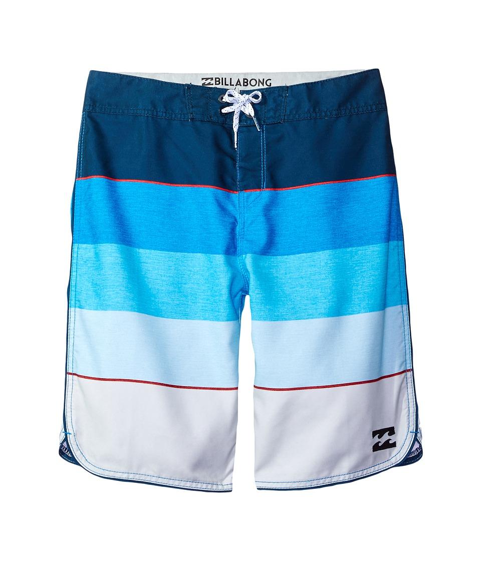 Billabong Kids 73 OG Stripe Boardshorts (Big Kids) (Blue) Boy