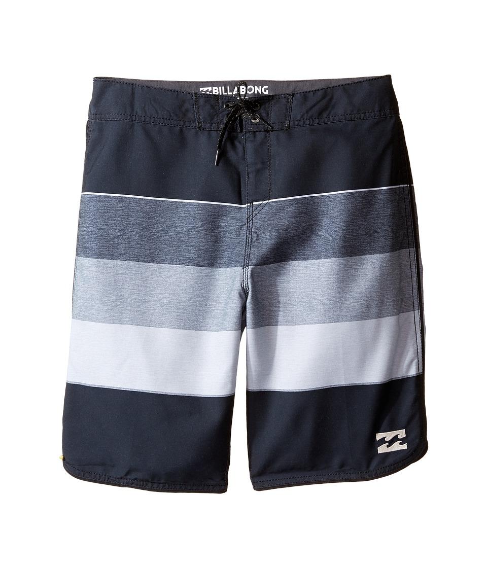 Billabong Kids 73 OG Stripe Boardshorts (Big Kids) (Black) Boy