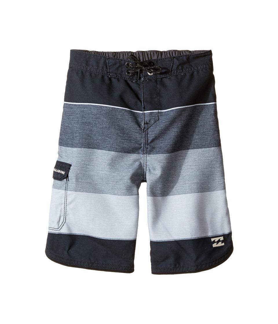 Billabong Kids - 73 OG Stripe Boardshorts (Toddler/Little Kids) (Black) Boy's Swimwear