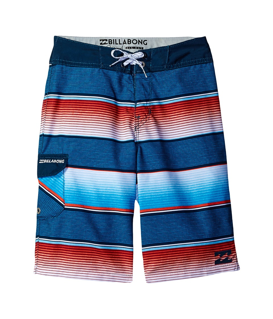 Billabong Kids All Day OG Stripe Boardshorts (Big Kids) (Red) Boy