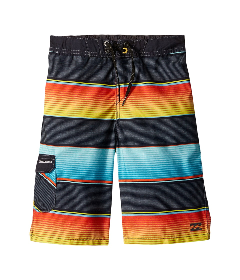 Billabong Kids All Day OG Stripe Boardshorts (Toddler/Little Kids) (Lime) Boy