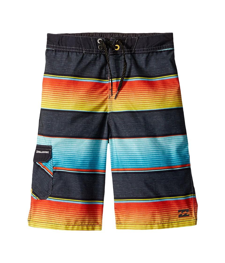 Billabong Kids All Day OG Stripe Boardshorts (Toddler/Little Kids) (Lime) Boy