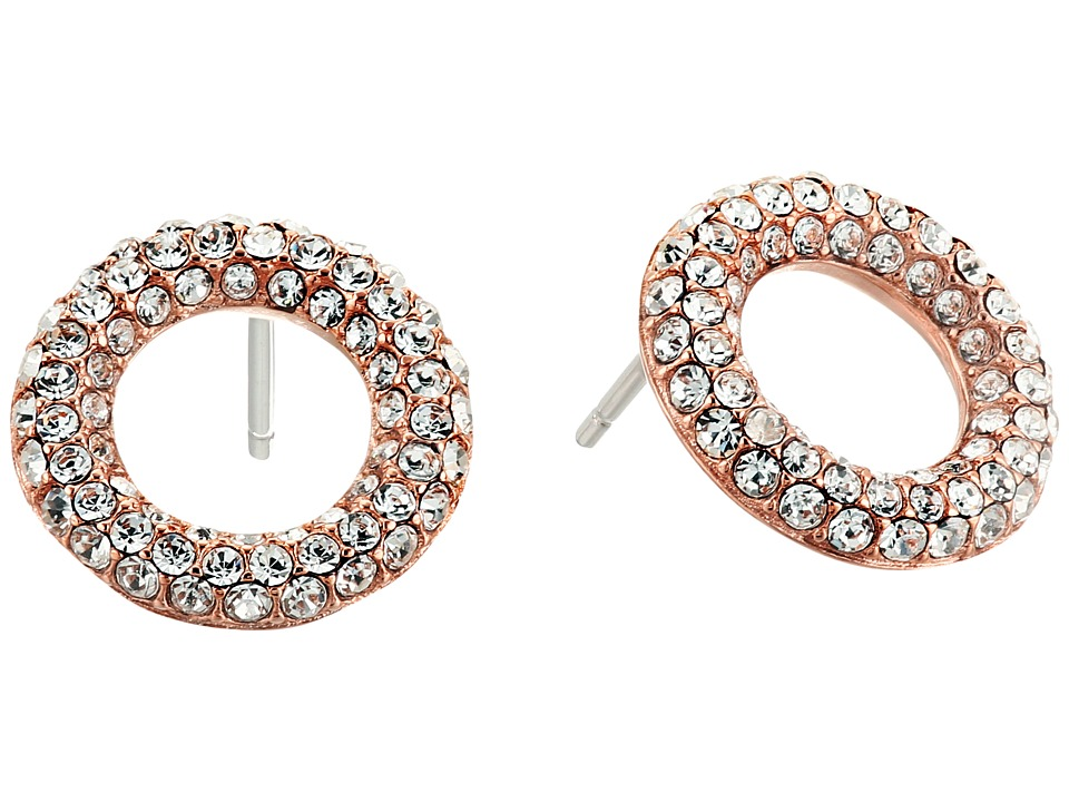 Michael Kors - Brilliance Pav Crystal Stud Earrings (Rose Gold) Earring