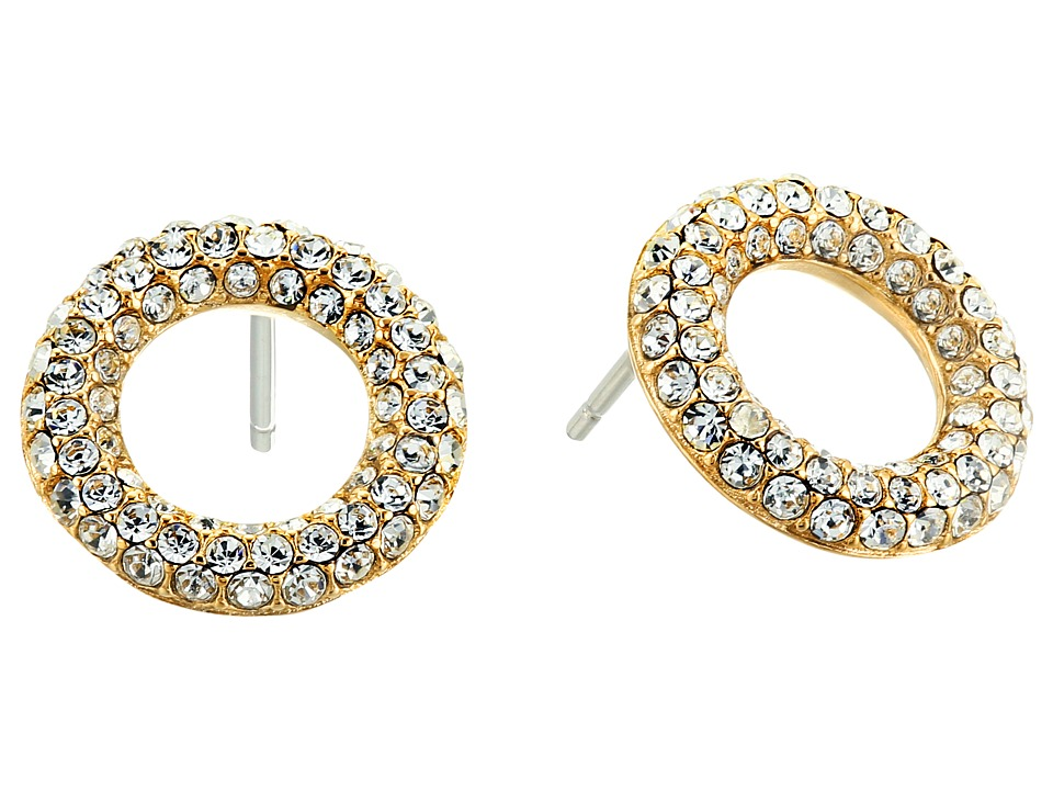 Michael Kors - Brilliance Pav Crystal Stud Earrings (Gold) Earring
