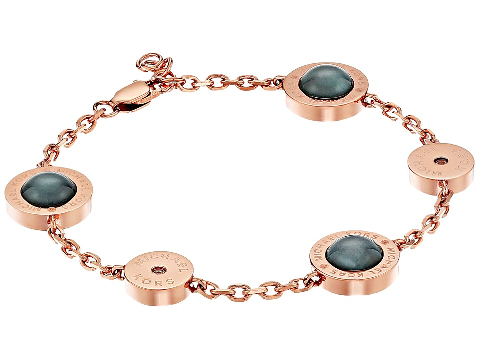 Michael Kors - Logo Mother-of-Pearl Station Bracelet (Rose Gold) Bracelet