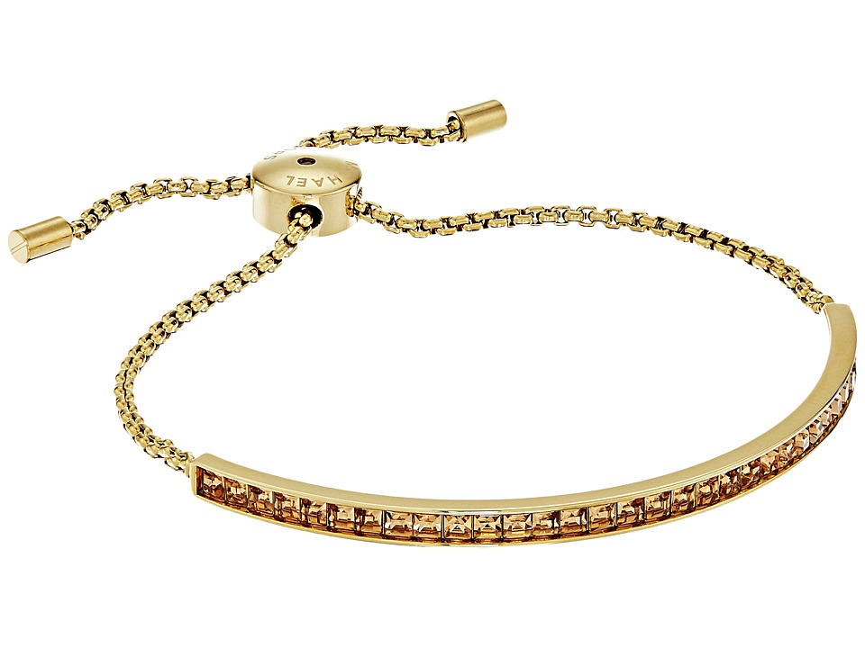 Michael Kors - Urban Rush Adjustable Slider Bracelet (Gold/Light Topaz) Bracelet