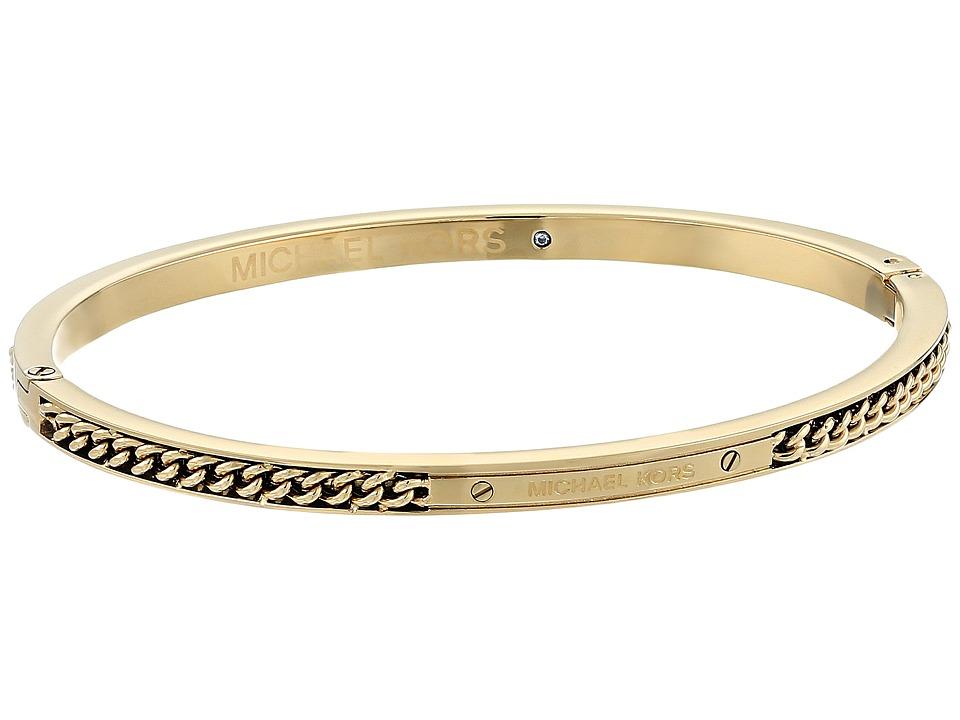 Michael Kors - Logo Hinged Bracelet (Gold) Bracelet