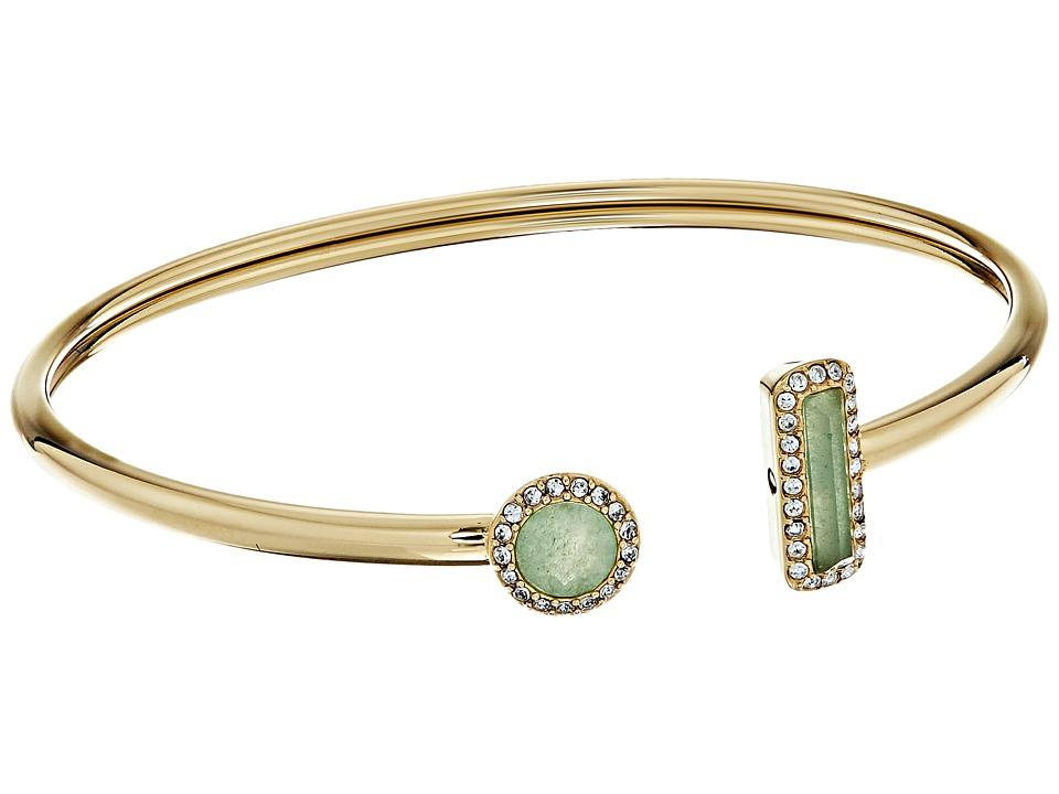 Michael Kors - Urban Rush Flexi Cuff Bracelet (Gold/Green) Bracelet
