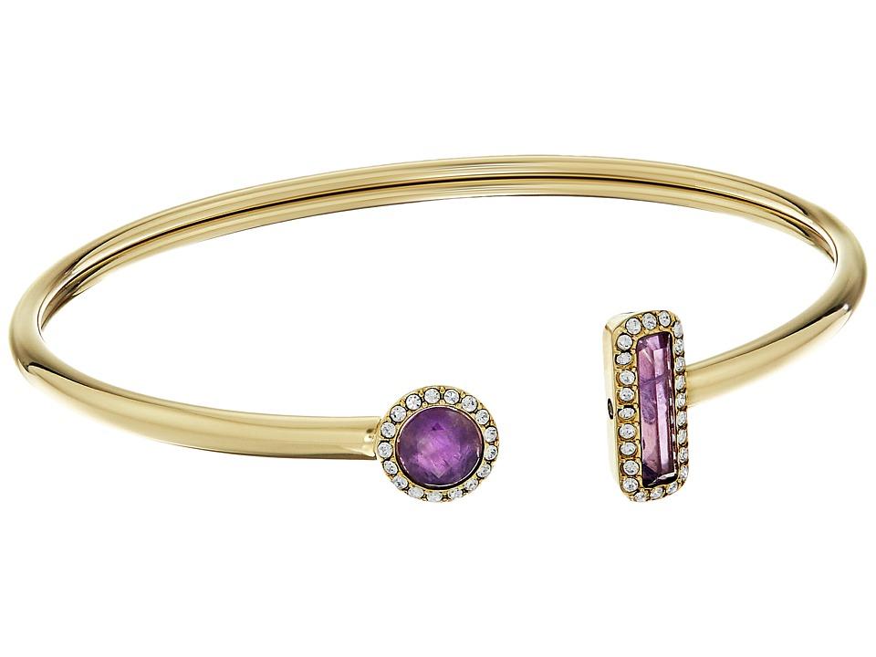 Michael Kors - Urban Rush Flexi Cuff Bracelet (Gold/Amethyst) Bracelet