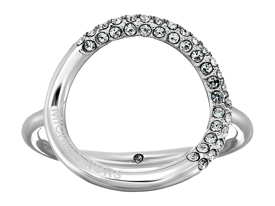 Michael Kors - Brilliance Pav Crystal Open Circle Ring (Silver) Ring