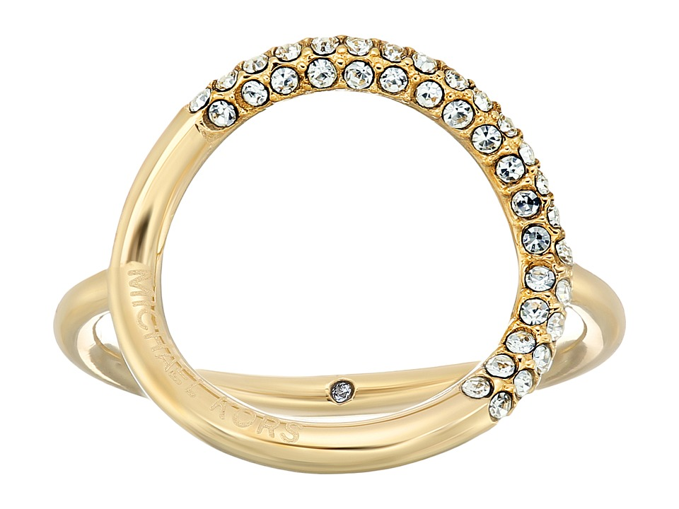 Michael Kors - Brilliance Pav Crystal Open Circle Ring (Gold) Ring