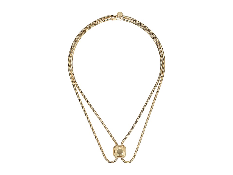 Michael Kors - Urban Rush CZ Lariat Slider Necklace (Gold) Necklace