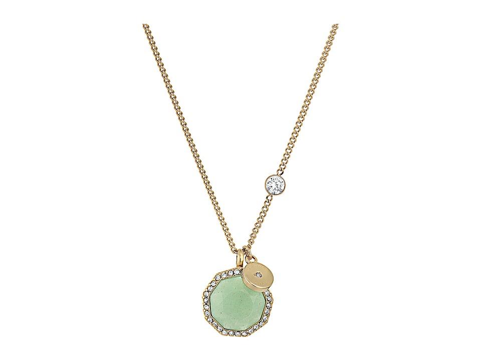 Michael Kors - Urban Rush Pendant Necklace (Gold) Necklace