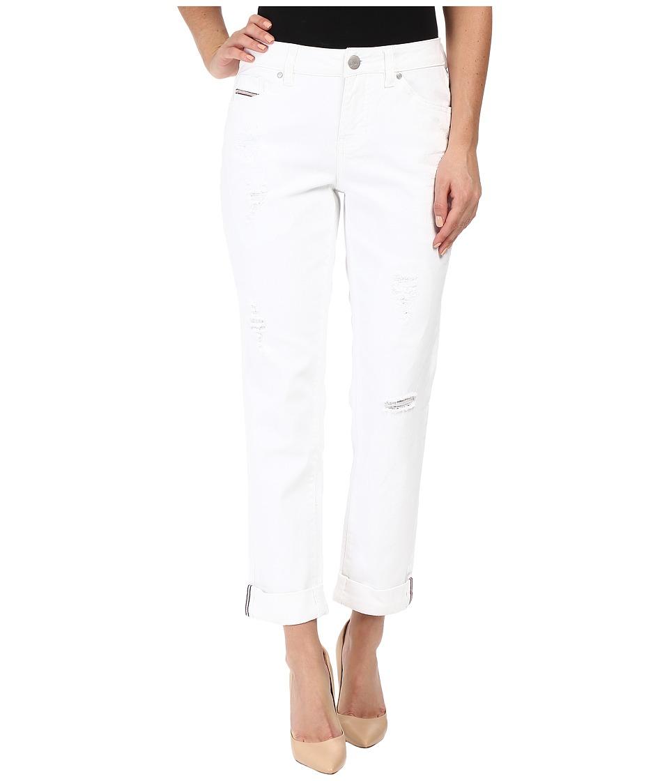 Jag Jeans Patched Alex Boyfriend in Comfort Denim (White) Women