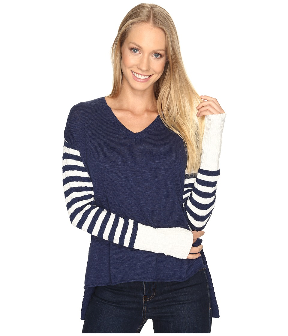 Life is Good - V-Neck Slouchy Sweater (Darkest Blue) Women's Sweater