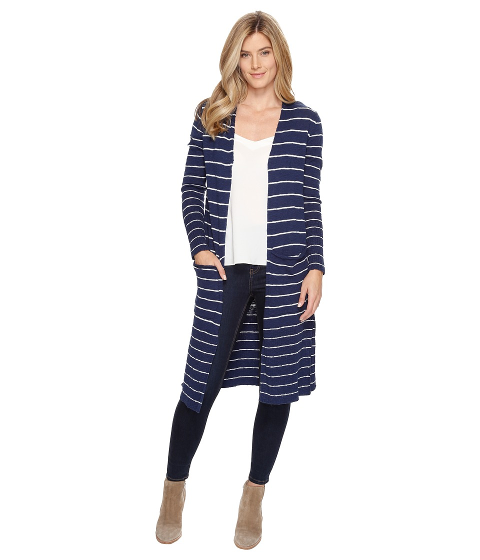Life is Good - Double Pocket Long Cardigan (Darkest Blue) Women's Sweater