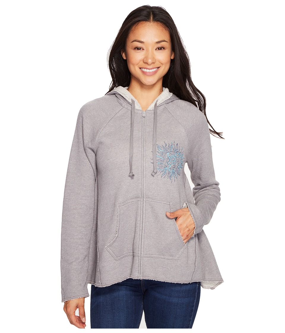 Life is Good - Sun Beachy Zip Hoodie (Slate Gray) Women's Sweatshirt