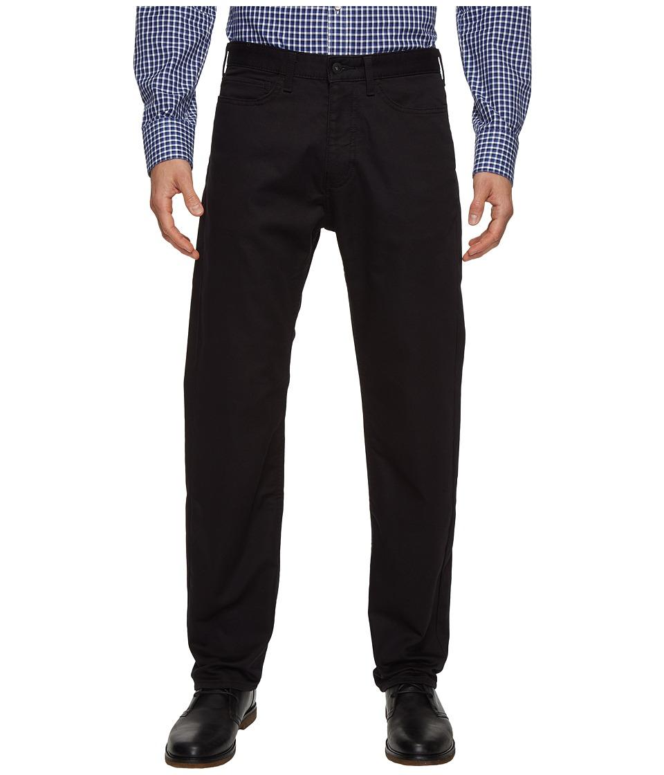 Dockers - Five-Pocket Straight Knit (Black Knit Like) Men's Casual Pants