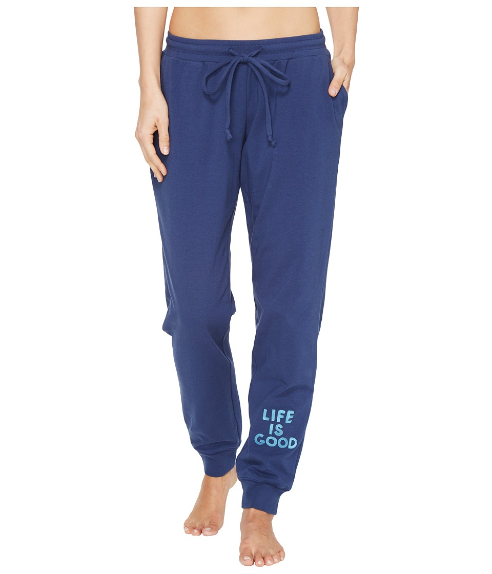 Life is Good - Beachy Jogger (Darkest Blue) Women's Casual Pants