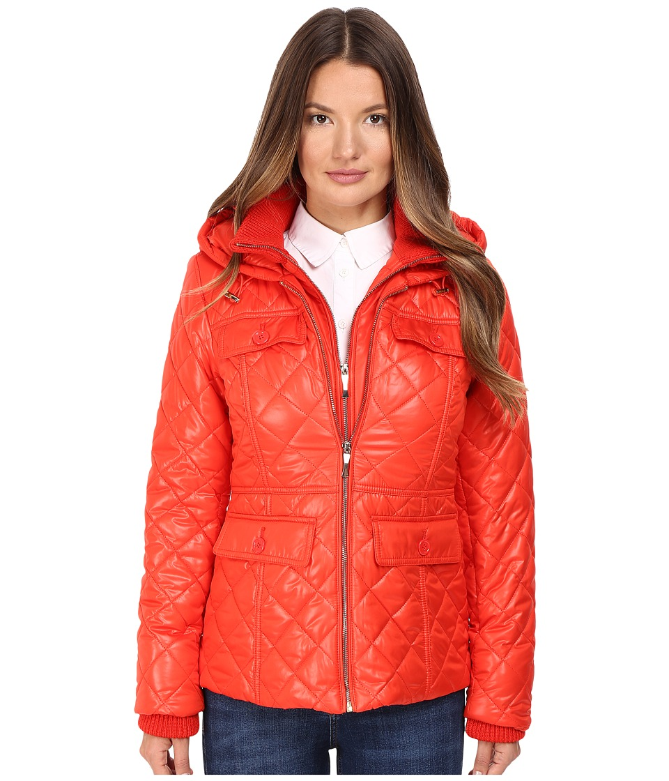 Kate Spade New York - Quilted w/ Hood 24 (Lollipop Red) Women's Coat