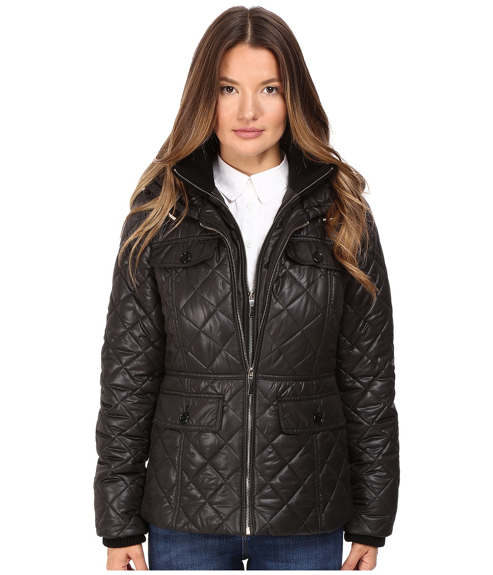 Kate Spade New York - Quilted w/ Hood 24 (Black) Women's Coat