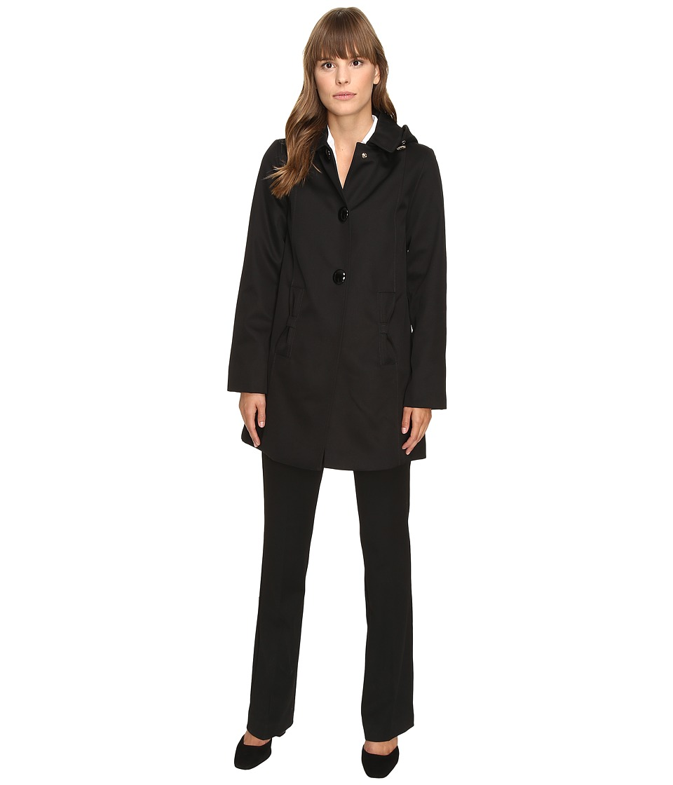 Kate Spade New York - Raincoat 32 (Black) Women's Coat