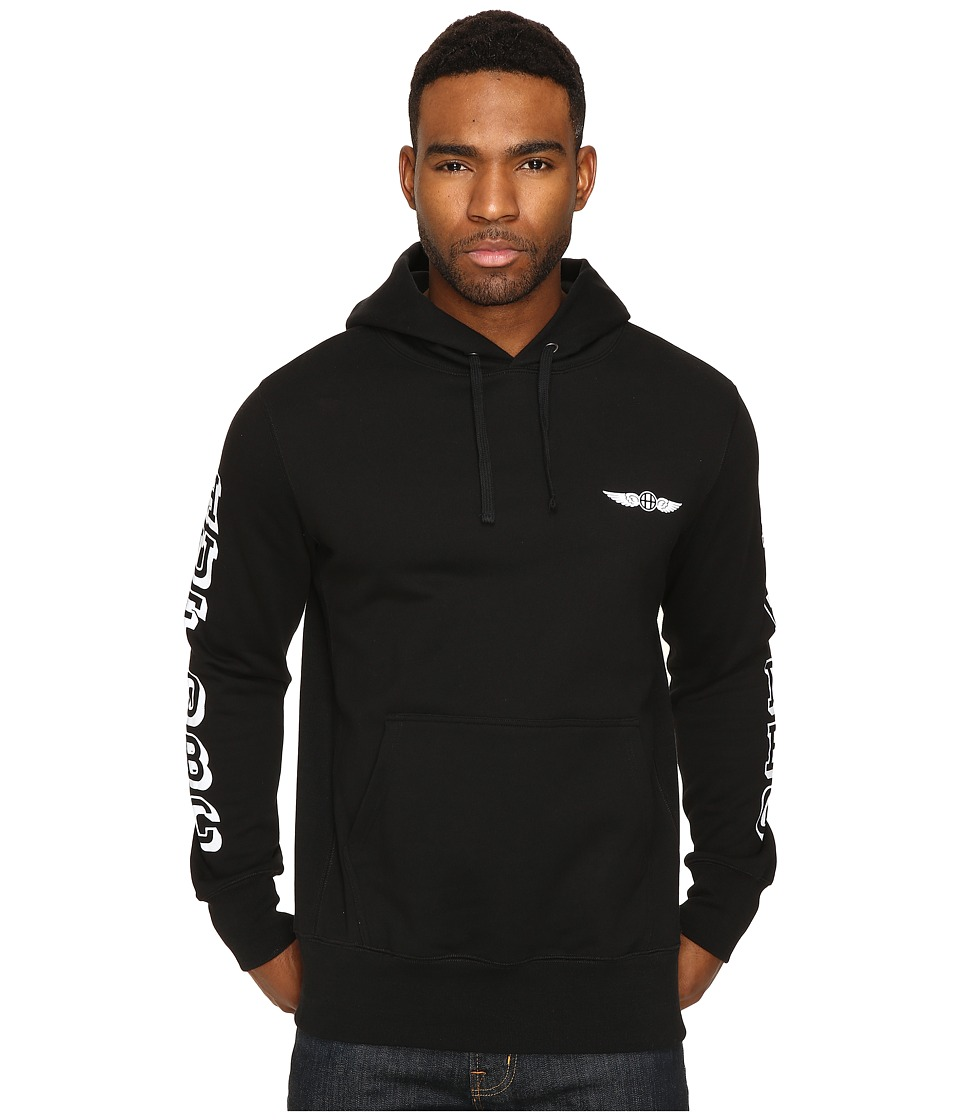 HUF - Recruit Hooded Fleece (Black) Men's Fleece