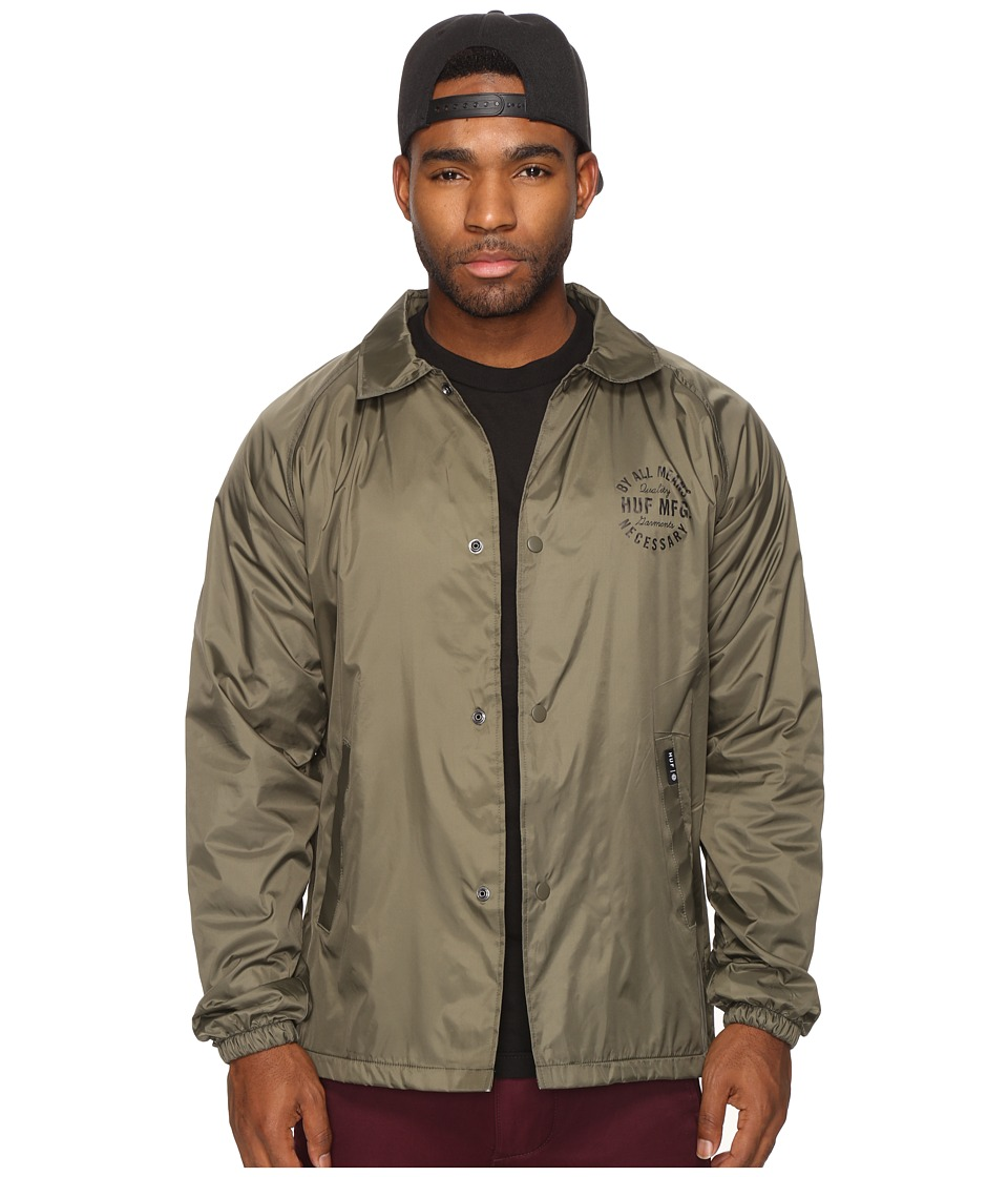 HUF - Bundy Coachs Jacket (Olive) Men's Coat