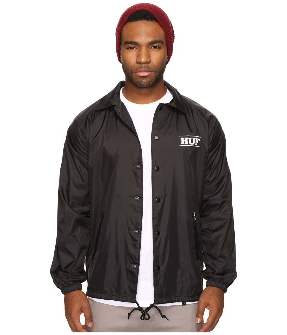 HUF - HUF X Pigpen Coachs Jacket (Black) Men's Coat