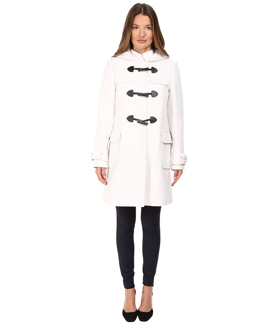 Kate Spade New York - Peacoat w/ Toggles Hood 34 (Light Shale) Women's Coat