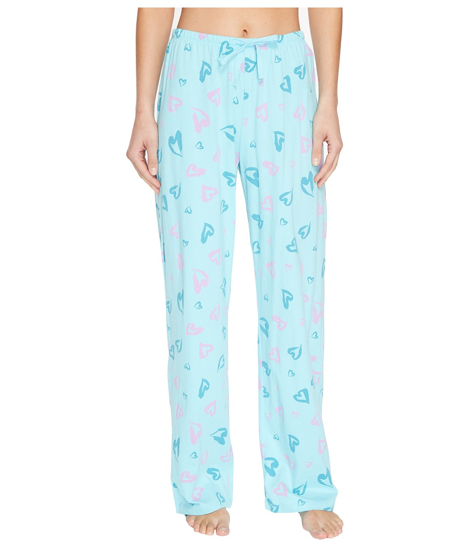 Life is good - Heart Jersey Sleep Pant (Fresh Blue) Women's Pajama