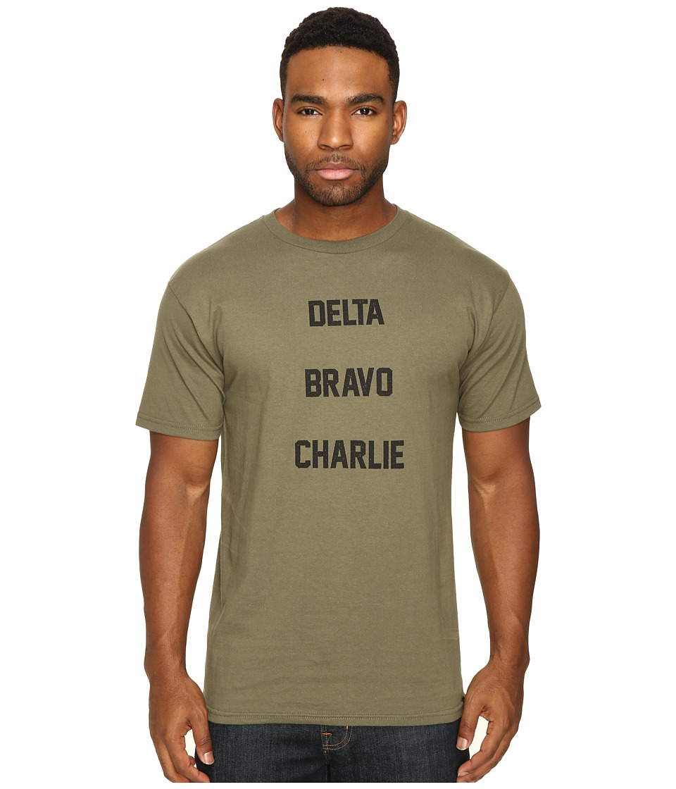 HUF - Delta Bravo Charlie Tee (Olive) Men's T Shirt