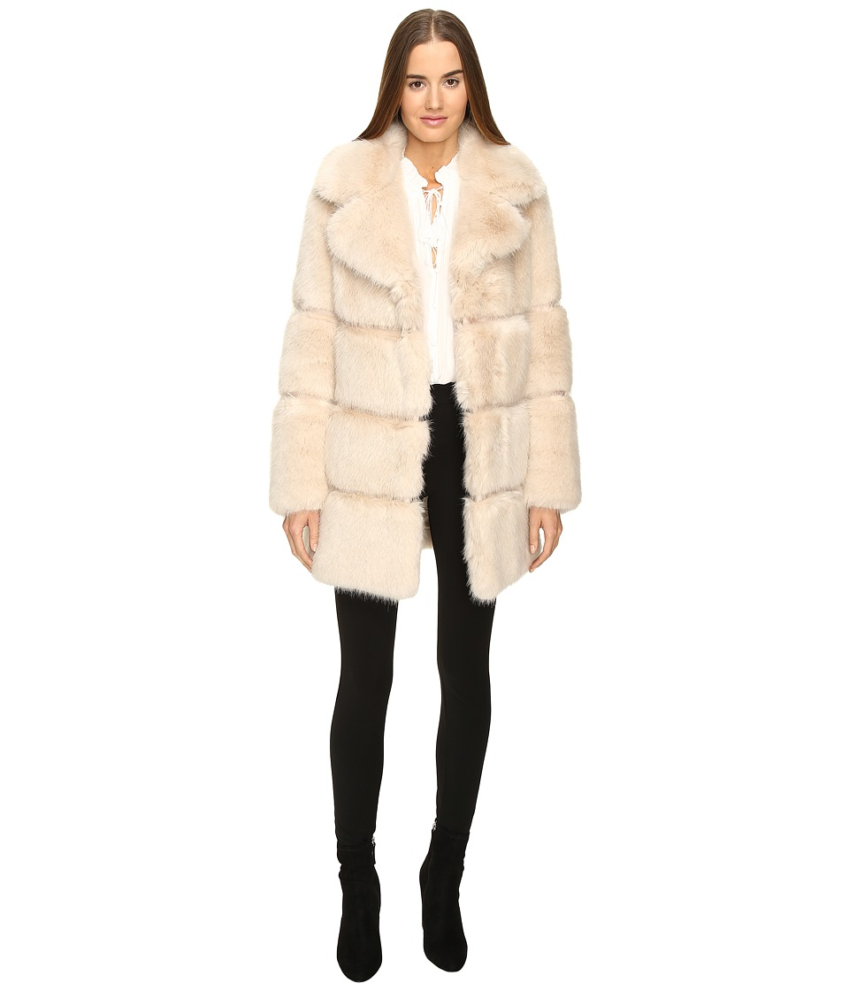 Kate Spade New York - Faux Fur 32 (Champagne) Women's Coat