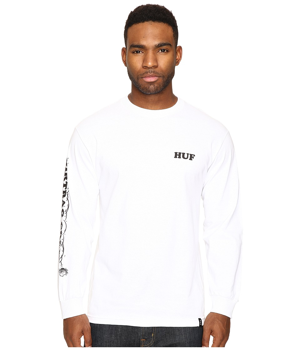 HUF - Pigpen Long Sleeve Tee (White) Men's T Shirt