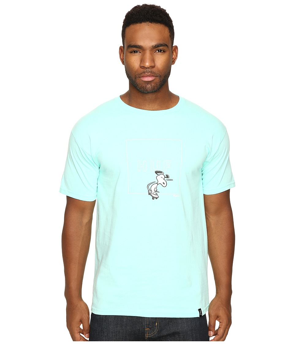 HUF - Snoopy Box Logo Tee (Celadon) Men's T Shirt