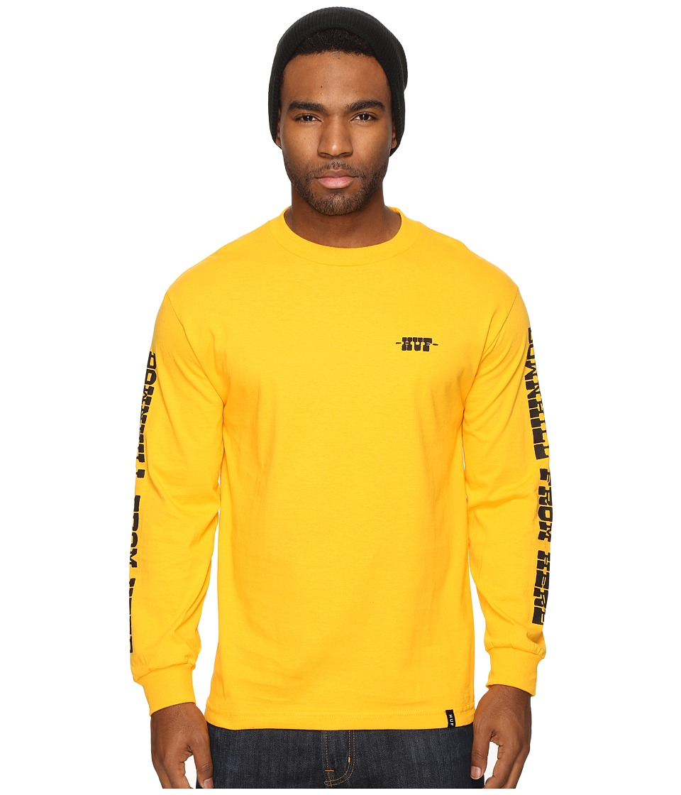 HUF - Spike Downhill Long Sleeve Tee (Gold) Men's T Shirt