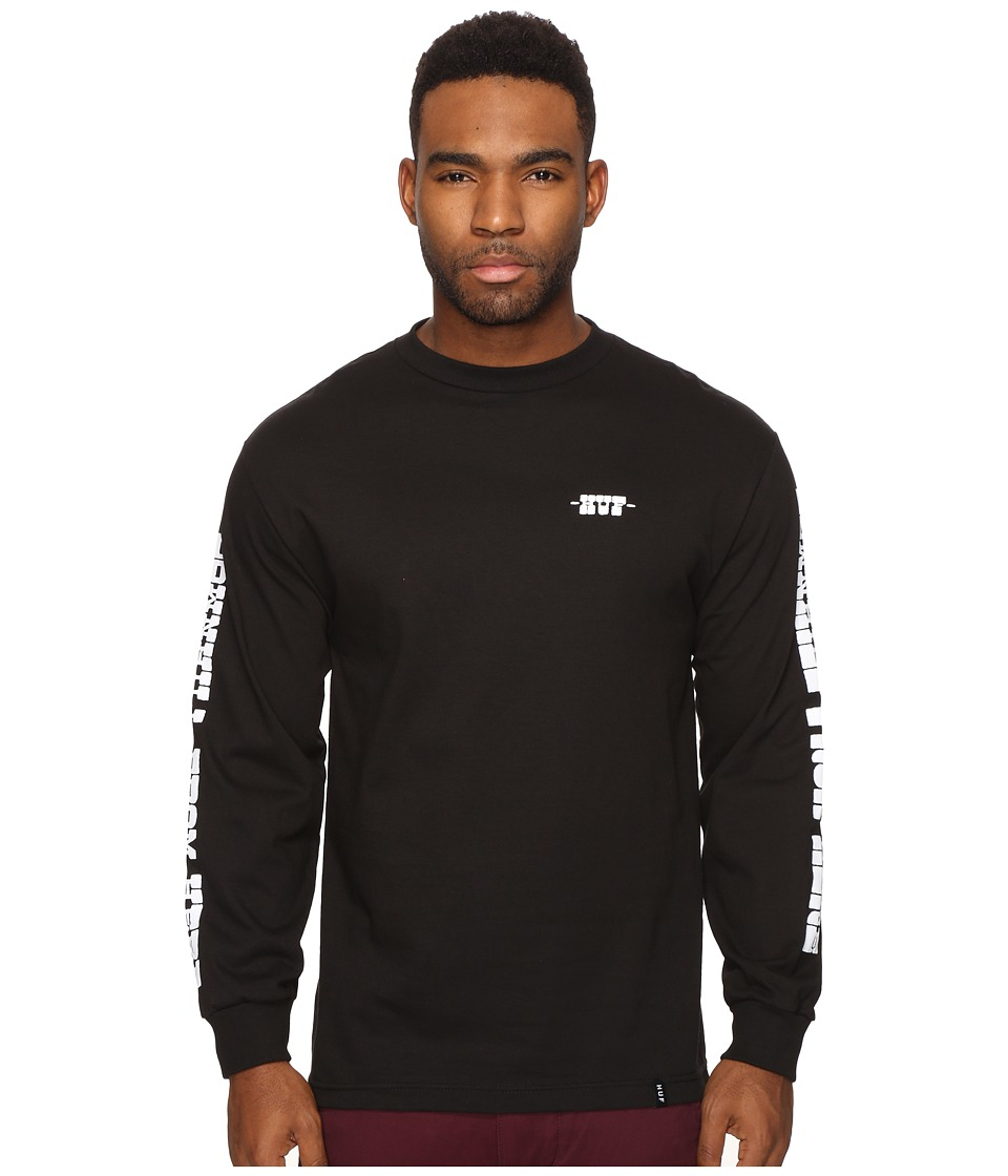 HUF - Spike Downhill Long Sleeve Tee (Black) Men's T Shirt