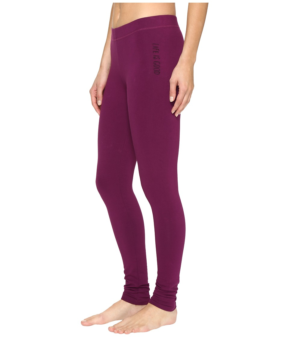 Life is Good - Good Night Sleep Legging (Deep Plum) Women's Pajama