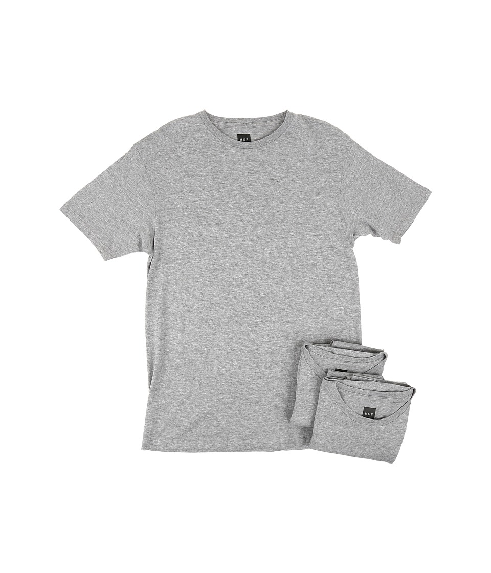 HUF - 3-Pack Tees (Grey Heather) Men's T Shirt
