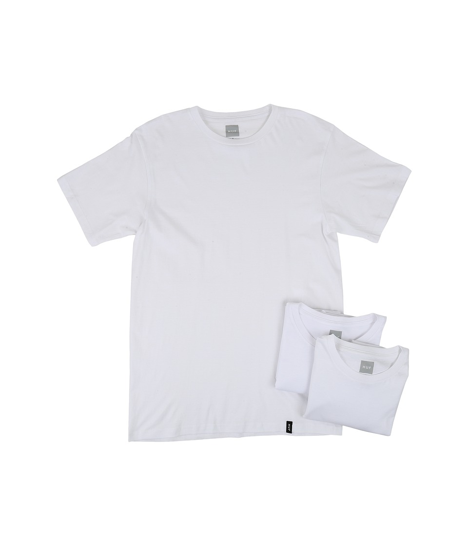 HUF - 3-Pack Tees (White) Men's T Shirt