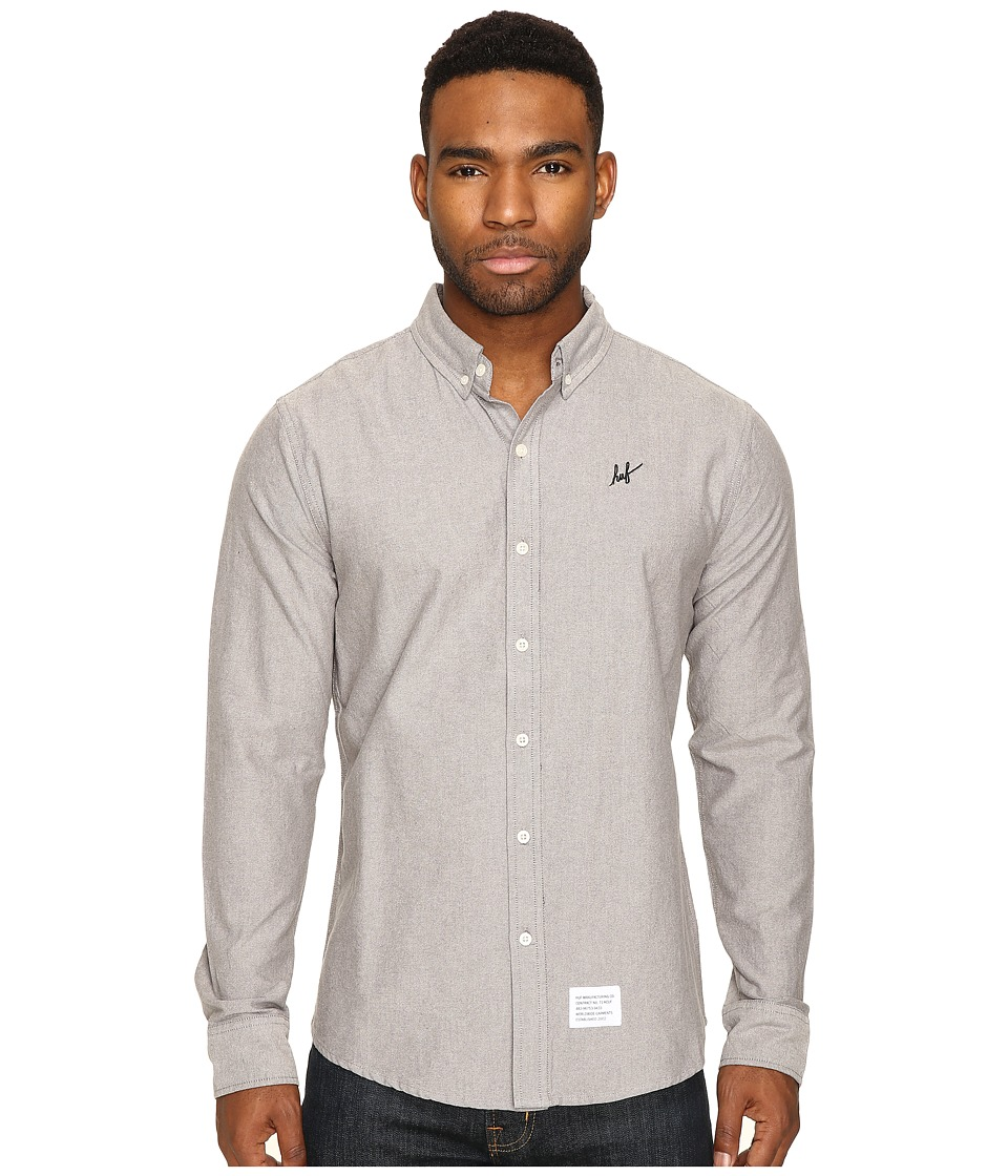 HUF - Milspec Oxford Shirt (Black) Men's Clothing
