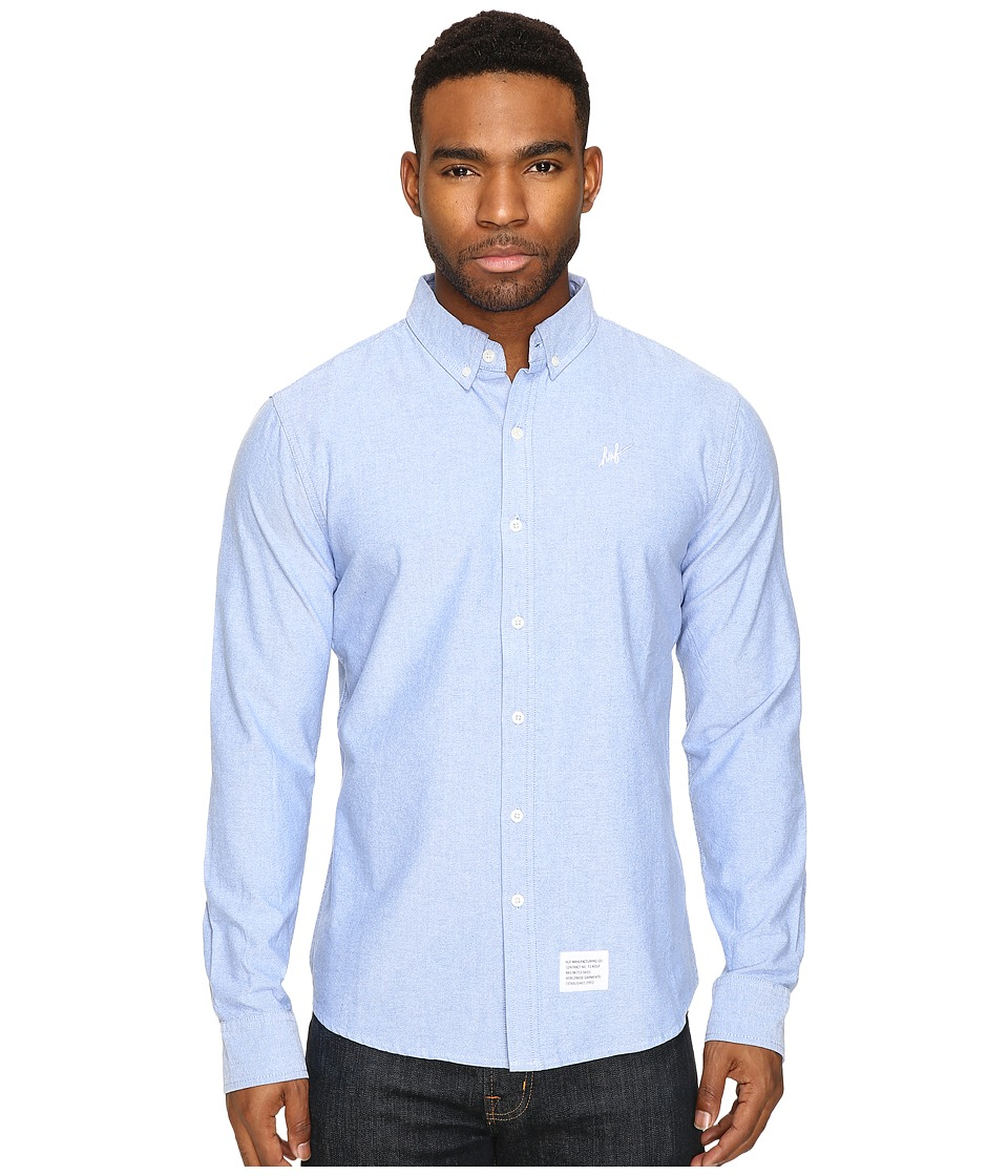 HUF - Milspec Oxford Shirt (Blue) Men's Clothing